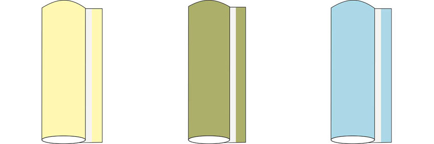 Tischläufer 40 cm Uni