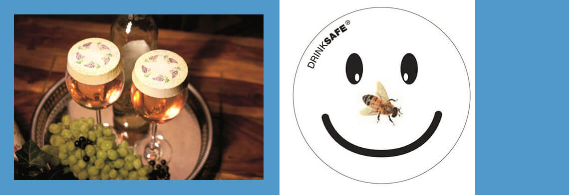 Trinkglasabdecker als Insektenschutz, Paper-Caps aus hochwertigem Karton