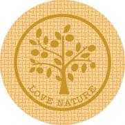 Glasabdecker LOVE NATURE JUTE BRAUN 74 mm