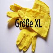 Haushaltshandschuhe gelb; 12 Paar im Pack; Größe XL