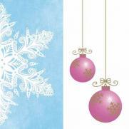 Linclass-Serviette COLINE blau-pink 40 x 40 cm; 600 Stück im Karton