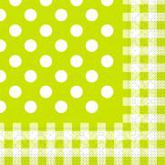 Tissue-Serviette 33x33 cm; 800 Stück im Karton; Typ: ANTON kiwi