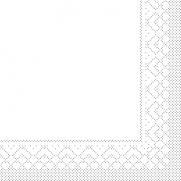 Tissue-Serviette WEISS 33 x 33 cm 1/4-Falz