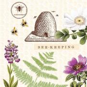 Softpoint-Serviette BEE KEEPING 40 x 40 cm