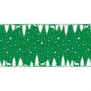 Linclass-Tischläufer LENNERT GRÜN 40 cm breit