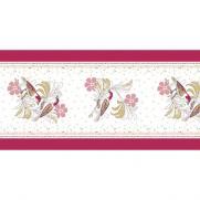 Linclass-Tischläufer LOVE & BIRDS BORDEAUX 40 cm breit