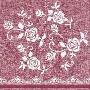 Tissue-Serviette LACE BORDEAUX 33 x 33 cm