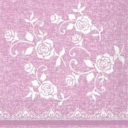 Tissue-Serviette LACE ROSE 33x33 cm