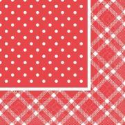 Tissue Serviette ANTONIA ROT 40 x 40 cm; 1200 Stück im Karton