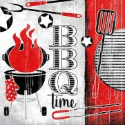 Tissue-Serviette BBQ TIME 33 x 33 cm