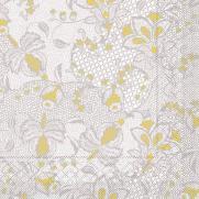 Tissue-Serviette DION GRAU-GELB 40 x 40 cm