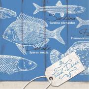 Tissue Serviette FISCH-ESSEN 40 x 40 cm; 1200 Stück im Karton