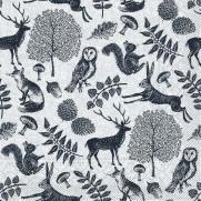 Tissue-Serviette FOREST GRAU-SCHWARZ 40 x 40 cm