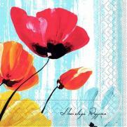 Tissue-Serviette IVONNE BLAU 33 x 33 cm