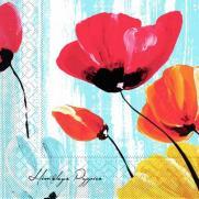 Tissue-Serviette IVONNE BLAU 40 x 40 cm
