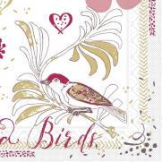 Tissue-Serviette LOVE & BIRDS 33 x 33 cm