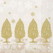 Tissue-Serviette MOIRA BEIGE 33 x 33 cm