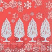 Tissue-Serviette MOIRA ROT 40 x 40 cm
