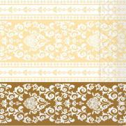 Tissue-Serviette 33x33 cm; 800 Stück im Karton; Typ: PASCAL gold-creme