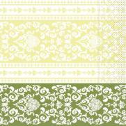 Tissue Serviette 33 x 33 cm PASCAL lindgrün