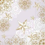 Tissue-Serviette STERNENSCHEIN grau-gold 40x40 cm; 1200 Stück im Karton