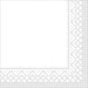 Tissue-Serviette 25x25 cm; 1000 Stück im Karton; Farbe: weiss