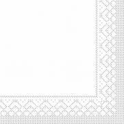 Zellstoff-Serviette weiß 33 x 33 cm; 3-lagig; 1/4 Falz