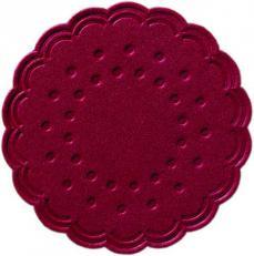 Duni Tassendeckchen Ø 7,5 cm, 8-lagig; 3000 Stück im Karton; Farbe: BORDEAUX