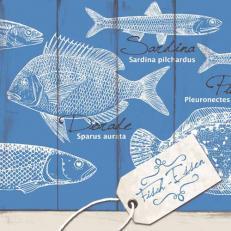 Linclass-Serviette FISCH-ESSEN 40 x 40 cm