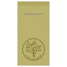 Besteckserviette LOVE NATURE-JUTE OLIV 40 x 40 cm 1/8-Falz