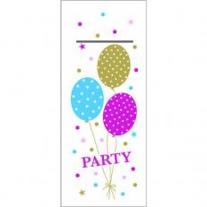 Besteckserviette PARTY BALLONS PINK-GOLD 40 x 33 cm 1/8-Falz