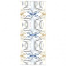 Besteckserviette aus Linclass-Light LUDO BLAU-GOLD 40 x 33 cm