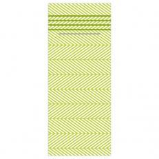 Besteckserviette aus Linclass-Light LUKAS LIME-OLIV 40 x 33 cm