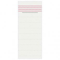 Besteckserviette aus Linclass-Light LUKAS PERLGRAU-ALTROSA  40 x 33 cm