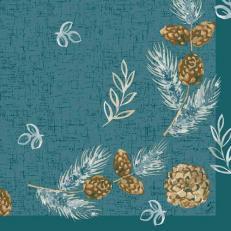 Duni-Klassik-Serviette PINE CONES 40 x 40 cm