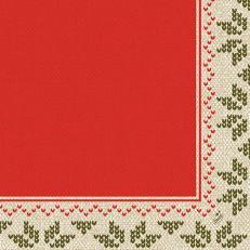Duni-Klassik-Serviette URBAN YULE RED 40x40 cm; 300 Stück im Karton