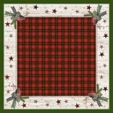 Dunicel Mitteldecken NATURALLY CHRISTMAS 84x84 cm; 100 Stück im Karton