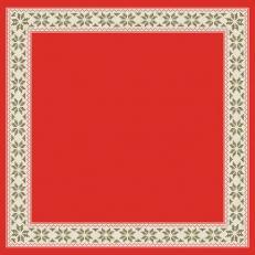 Dunicel Mitteldecken URBAN YULE RED 84x84 cm; 100 Stück im Karton