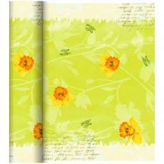 Dunicel Tischläufer SPRING FLOWERS; 4 Rollen im Karton