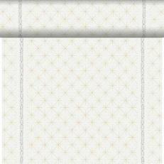 Dunicel-Tischläufer GLITTER WHITE 40 cm breit