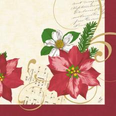 Dunilin-Serviette CHRISTMAS FLOWER 40x40 cm; 250 Stück im Karton