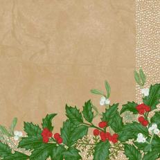 Dunisoft-Serviette SNOWY BERRIES 40 x 40 cm