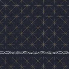 Dunisoft-Serviette GLITTER BLACK 40 x 40 cm