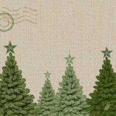 Dunisoft-Serviette FIR FOREST 40 x 40 cm