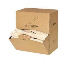 Besteck-Spenderbox BioPak Holz Gabel 160mm