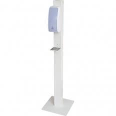 Hygienesäule WEISS mit Cosmos-Sensor-Desinfektionsspender