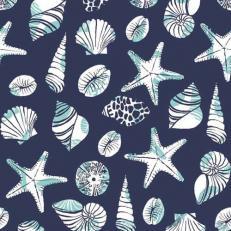 Linclass-Serviette BEACH BLAU 40 x 40 cm