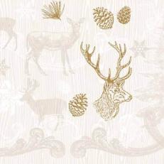 Linclass-Serviette BRUNO braun-gold 48 x 48 cm; 500 Stück im Karton