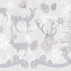 Linclass-Serviette BRUNO grau-silber 40 x 40 cm; 600 Stück im Karton