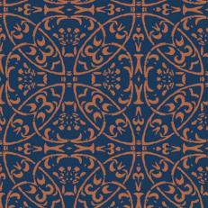 Linclass-Serviette CLAUDIO DUNKELBLAU-BRAUN 40 x 40 cm
